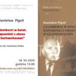 Spotkanie 11. Stanisław Pigoń – Z Komborni w świat. Wspominki z obozu w Sachsenhausen