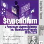 Nabór wniosków o przyznanie stypendium z Funduszu stypendialnego im. Stanisława Pigonia