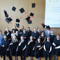 Uroczyste wręczenie dyplomów ukończenia studiów absolwentom kierunku Inżynieria produkcji 2021